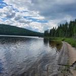 Paysage bord de lac pourvoirie Rudy