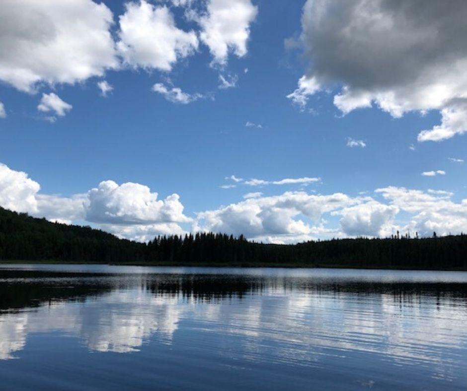 Lac aux Bleuets à la pourvoirie Rudy