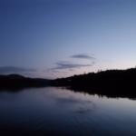 paysage a la tombee de la nuit en pourvoirie