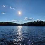 Paysages féériques sur lac à la pourvoirie Rudy