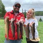 Pêche à la truite au Rudy avec Celia et Kenny Byrns