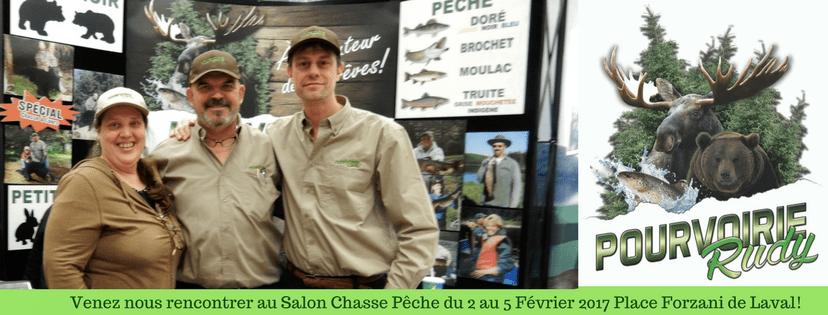La pourvoirie rudy au salon chasse p che la place forzani laval pourvoirie rudy 2015 - Salon de la chasse et peche ...