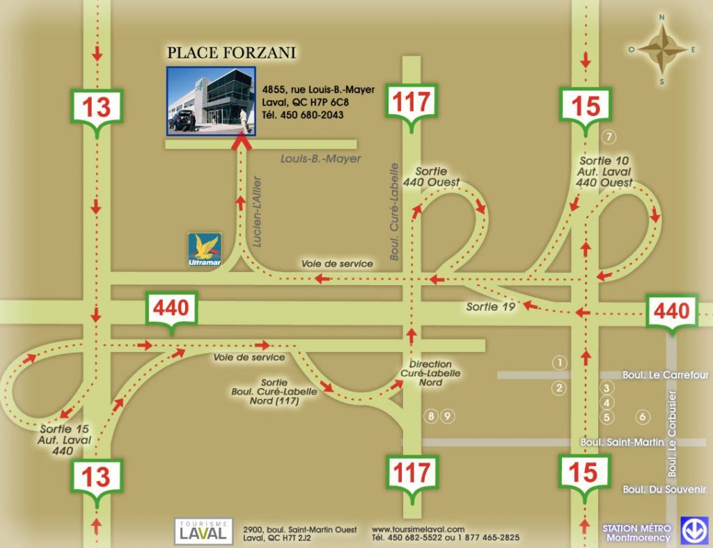 Directions Place Forzani Laval