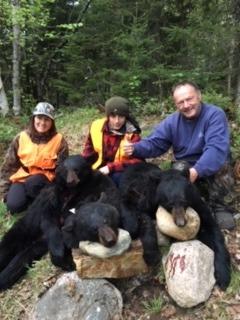 chasse à l'ours pourvoirie rudy