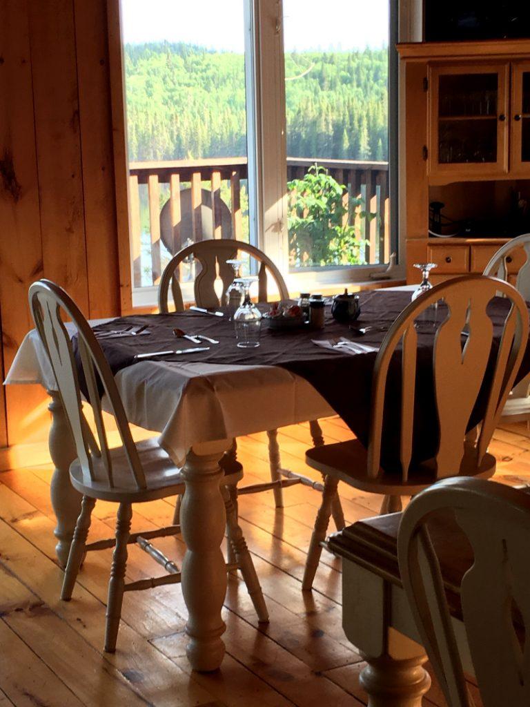 Salle a manger Lodge Pourvoirie Rudy Laurentides
